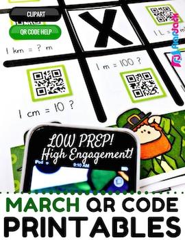 4th Grade March QR Code Printables - Low Prep!