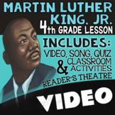 4th Grade Martin Luther King Jr. Activities, Reading Passages, for MLK Day