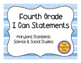 4th Grade Maryland I Can Statements - Social Studies & Science