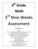 4th Grade Math 3rd Nine Weeks Assessment