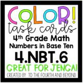 4th Grade Math 4.NBT.6 COLOR! Multi-Digit Division Jenga Task Cards