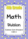 4th Grade Math Activities Division Strategies Multi-Digit