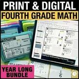 4th Grade Math Activities PRINT & DIGITAL Bundle - Distanc
