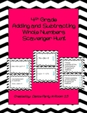 4th Grade Math Adding and Subtracting Whole Numbers Scaven
