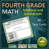 4th Grade Math Addition Subtraction Task Card Kit
