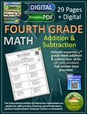 4th Grade Math Addition Subtraction Worksheets