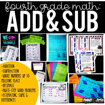 4th Grade Math:  Addition and Subtraction of Whole Numbers and Decimals