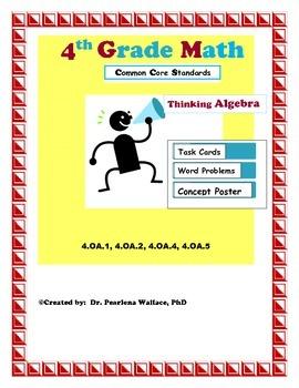 4th Grade Algebraic Thinking: Additive & Multiplicative Comparison, Prime No.