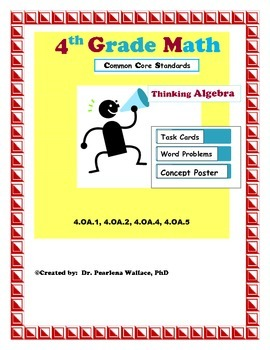 4th Grade Algebraic Thinking: Additive & Multiplicative Comparison, Prime No.