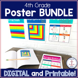 Digital and Printable 4th Grade Math Anchor Chart Posters distance learning