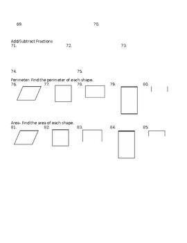 4th Grade Math Assessment