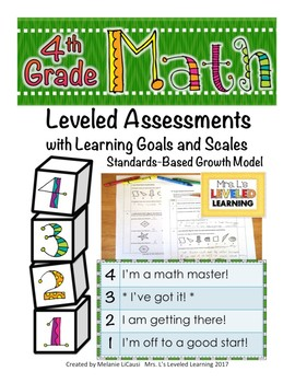 4th Grade Math Assessment (4G.1-3) with Marzano Scales
