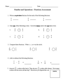 4th Grade Math Assessment Bundle