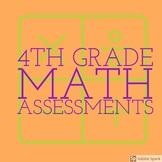 4th Grade Math Assessment Bundle! 6 tests!
