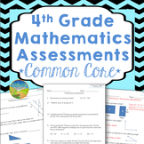 4th Grade Math Assessments for Common Core
