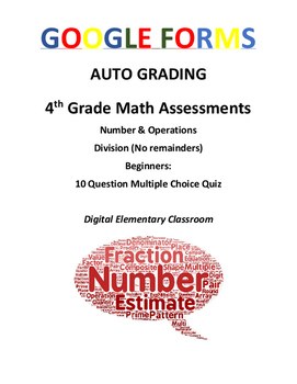 4th Grade Math Assessment: Google Form, Beginning Division