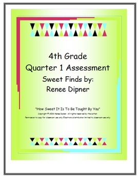 4th Grade Math Assessment for Quarter 1