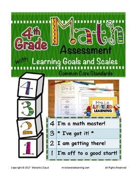 4th Grade Math Assessment with Proficiency Scales - Distance Learning