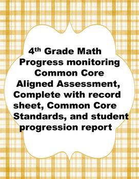 4th Grade: Year Round Math Assessments and Progress Monito