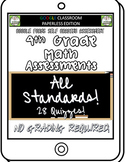 4th Grade Math Assessments ALL STANDARDS BUNDLE for Google Forms