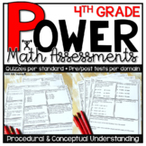 4th Grade Math Assessments | Test Prep | PRINT VERSION * Quizzes and Tests