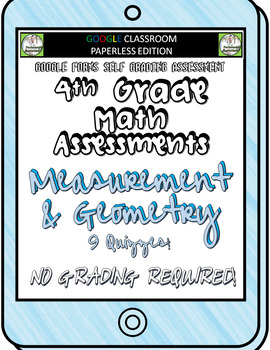 4th Grade Math Assessments for Google Classroom - Measurement and Geometry