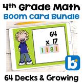 4th Grade Math Boom Card BUNDLE