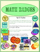 4th Grade Math Badges - Motivating Rewards to Collect!