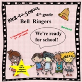 4th Grade Math Bell Ringers (for the first 6 to 7 weeks) TEKS-aligned
