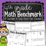 4th Grade Math Benchmark Assessment {designed to use three times per year}