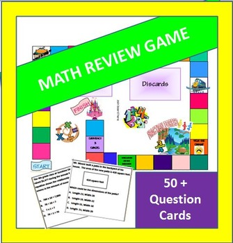 4th and 5th Grade Math Board Game - Common Core Aligned