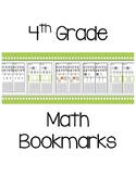 4th Grade Math Bookmarks