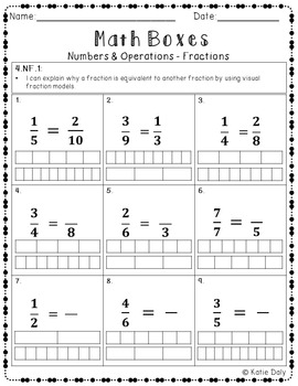 4th Grade Math Boxes Bundle - Three Domains