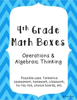 4th Grade Math Boxes - Operations and Algebraic Thinking