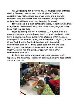 4th Grade Math Breakout (Escape Room)