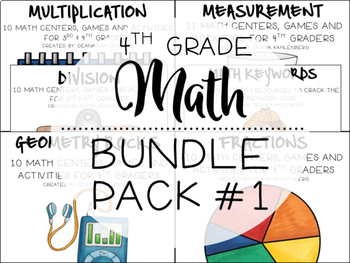 4th Grade Math Bundle #1