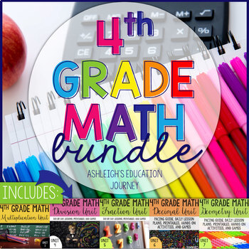 4th Grade Math Bundle - Guided Math or Math Workshop