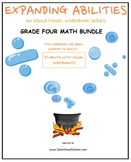 Grade 4 Math Bundle-Fractions,Geom..,Algebra,M&D,Base 10- Visually Impaired