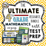 4th Grade Math Bundle with Test Prep