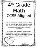 4th Grade Math CCSS Aligned