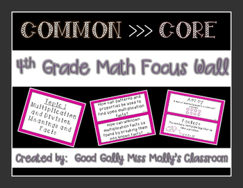 4th Grade Math Focus Wall