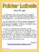 4th Grade Math CCSS Folder Labels