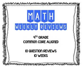 4th Grade Math CCSS Review