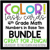 4th Grade Math COLOR! Task Card (Jenga) BUNDLE *NBT* - *Ov