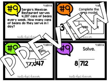 4th Grade Math COLOR Task Cards for Jenga NBT BUNDLE Over 300 Task Cards