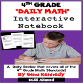 4th Grade Daily Math Review, Interactive Notebook Covers A
