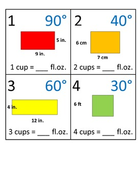 4th Grade Math Calendar - Area, Perimeter, Capacity, Protractors