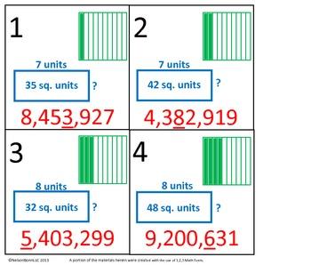 4th Grade Math Calendar - Decimals, Place Value, Area, Mul