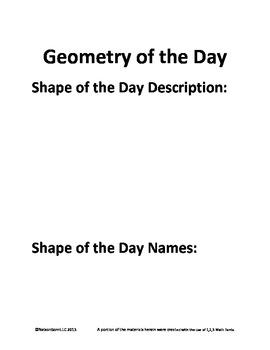 4th Grade Math Calendar - Quadrilaterals, Angles, Place Value