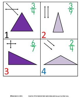 4th Grade Math Calendar - Triangles, Fractions, Parallel,